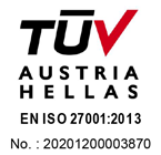 TUV Austria Hellas Certification - ISO 27001:2013